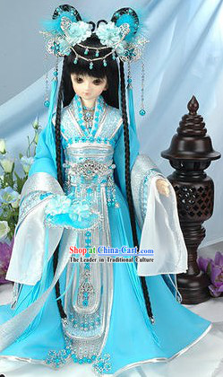 Chinese Princess Dress and Hair Accessories Set