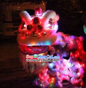 Handmade Twice Uses LED Luminous Lion Dance Costume Complete Set