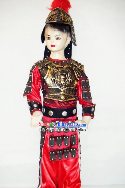 Ancient Chinese Armor Costume for Children