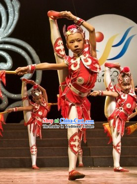 Jin Guo Xiao Ying Xiong Hua Mulan Dance Costume for Children