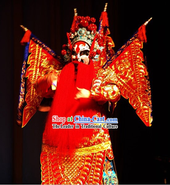 Chinese Classic Beijing Opera Ancient Costumes for General - Da Kao Armor