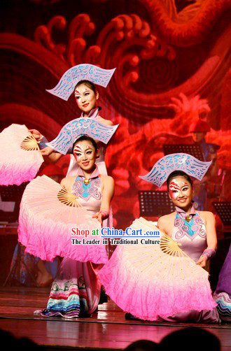 Chinese Traditional Color Transition Dance Fan