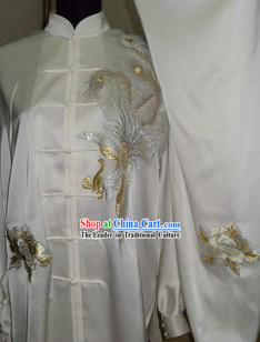 Chinese Embroidery Phoenix Kung Fu Clothes Complete Set