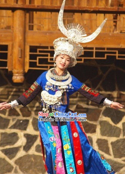 Chinese Miao Minority Dance Costume Complete Set