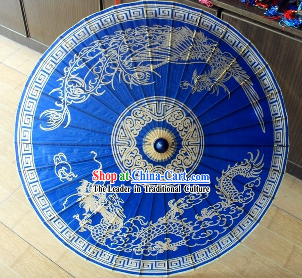 Traditional Chinese Painted Dragon Umbrella