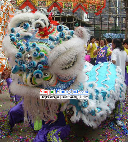 Supreme Traditional FUT SAN Lion Dance Costumes Complete Set