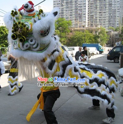 Competition and Parade Chinese Southern Lion Dance Costumes Complete Set