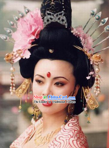 Tang Dynasty Yang Yuhuan Headpiece Set