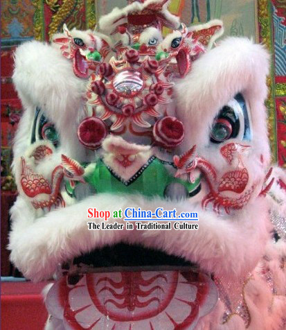 Top Handmade Phoenix Lion Dance Mask Costume Complete Set