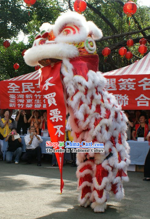 Happy Celebration Long Sheep Fur Lion Dance Costumes Complete Set