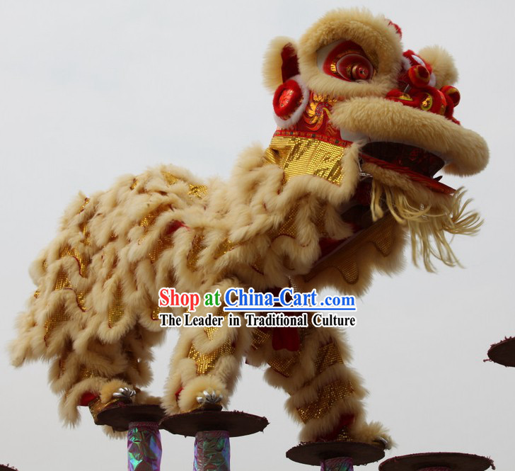 Professional Competition and Celebration Lion Dance Costume Complete Set