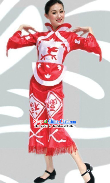 Traditional Chinese Spring Festival Dance Costume
