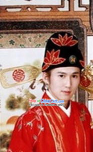 Traditional Chinese Wedding Hat for Bridegroom