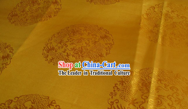 Traditional Chinese Dragon Brocade Fabric