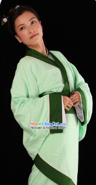 Ancient Chinese Hanfu Quju Clothing Complete Set
