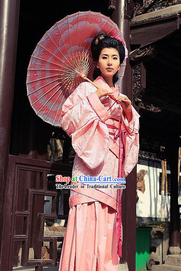 Ancient Chinese Pink Women Han Fu/Hanfu Clothing
