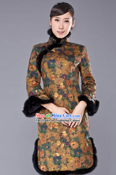 Traditional Chinese Short Sleeve Qipao for Women
