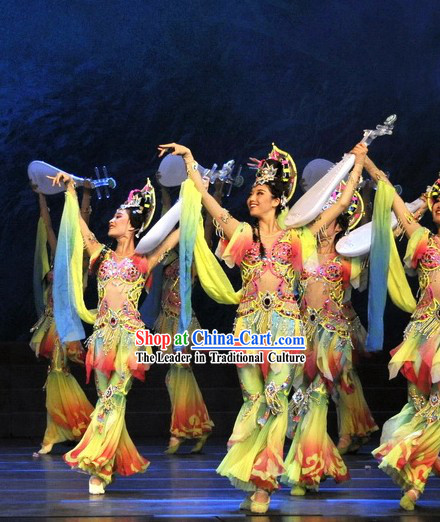 Ancient Fei Tian Lute Palace Dance Costume Complete Set