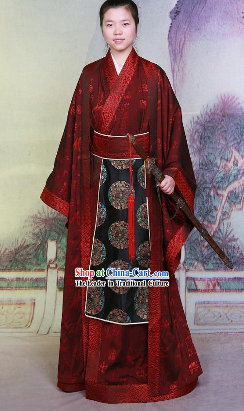 Tang Dynasty Wedding Hanfu Set for Bridegroom