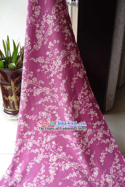 Traditional Chinese Plum Blossom Silk Fabric