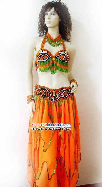 Top Competition Belly Dance Costumes Complete Set for Women
