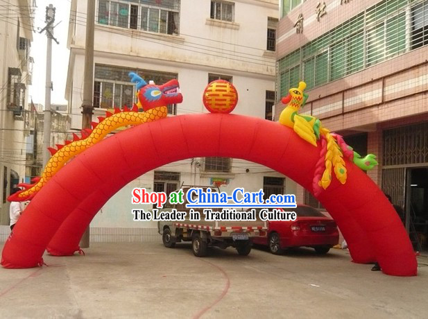 Large Inflatable Dragon and Phoenix Arch