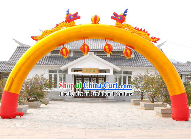 Large Inflatable Dragons and Lanterns Arch