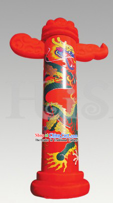Traditional Large Chinese Inflatable Dragon Ornamental Column