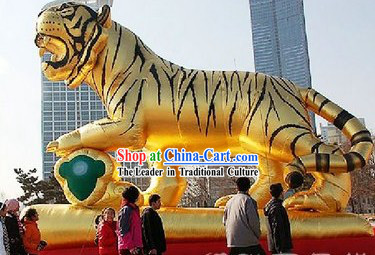 Large Inflatable Golden Tiger