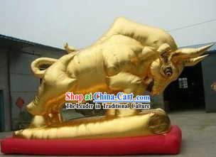 Large Inflatable Golden Ox