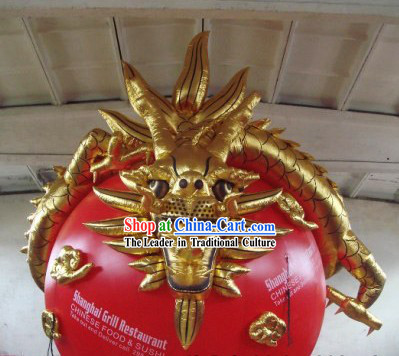 Chinese Inflatable Golden Dragon Ball