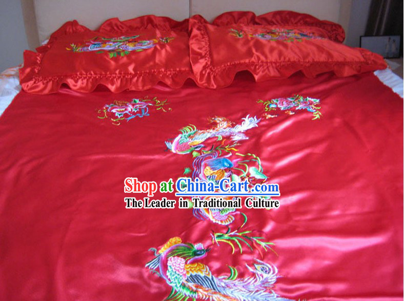 Chinese Classic Embroidery Silk Bedcover - Mandarin Ducks
