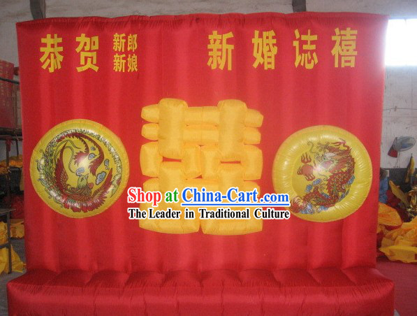 Chinese Wedding Dragon Phoenix Inflatable Background