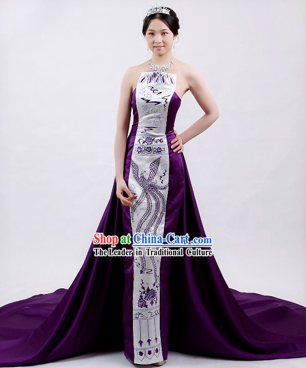 Chinese Traditional Phoenix Evening Dress