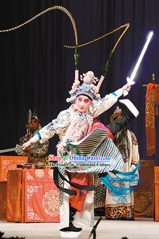 Peking Opera White Dragon Robe _Tuan Long Mang_ Zhou Yu Costumes