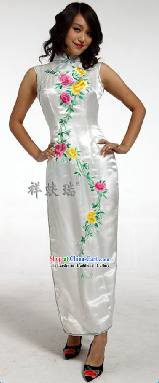 Rui Fu Xiang Silk Wedding Qipao for Women