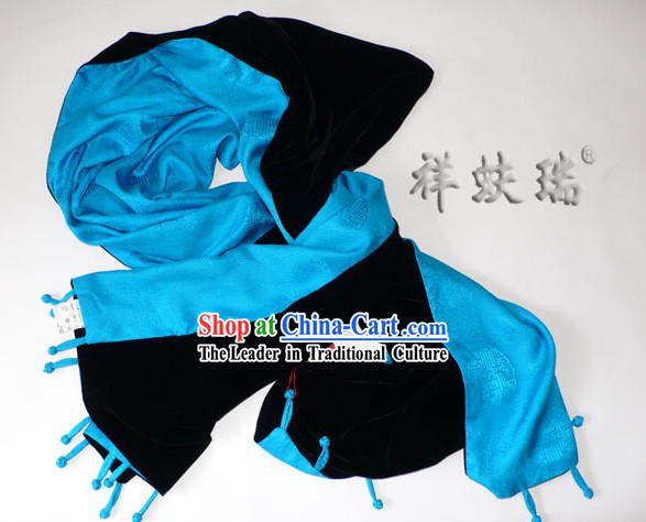 Chinese Peking Rui Fu Xiang Silk Double Sided Scarf