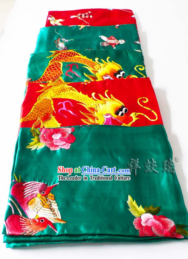 Beijing Rui Fu Xiang Silk Dragon Wedding Silk Bedcover