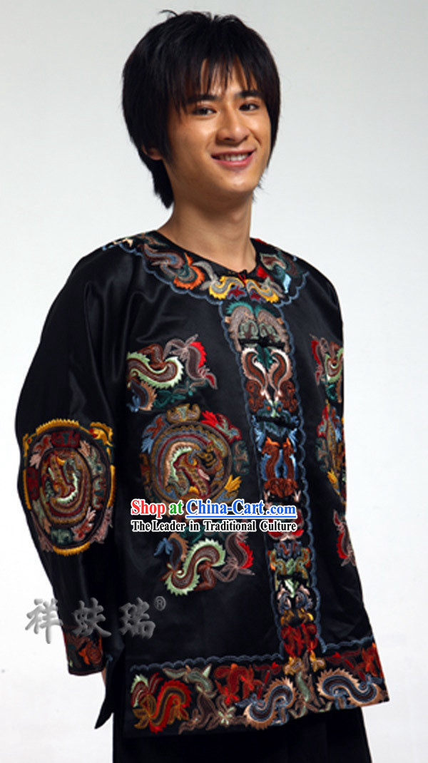 Well-known Rui Fu Xiang Dragon Blouse for Men