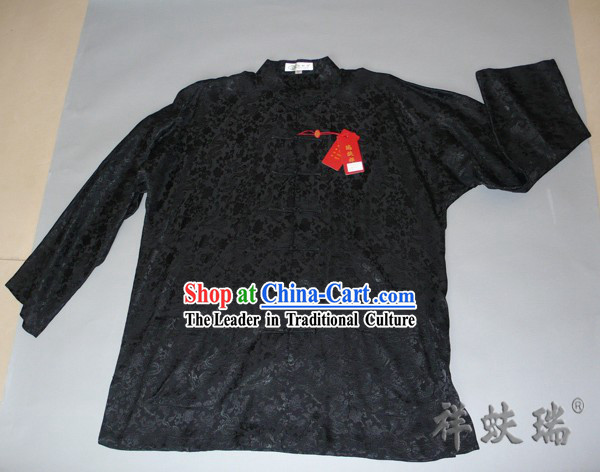 Famous Time-honored Rui Fu Xiang Silk Dragon Blouse for Men