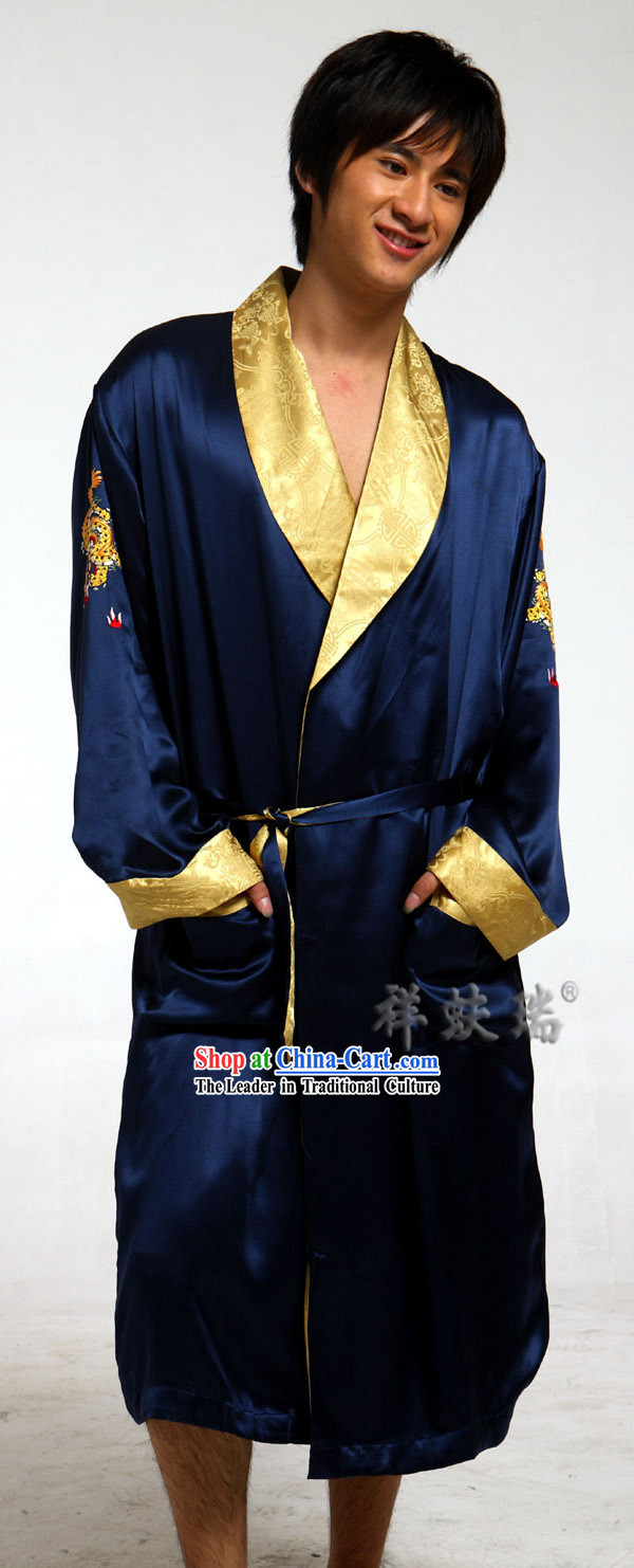 Famous Time-honored Rui Fu Xiang Silk Pajama for Men