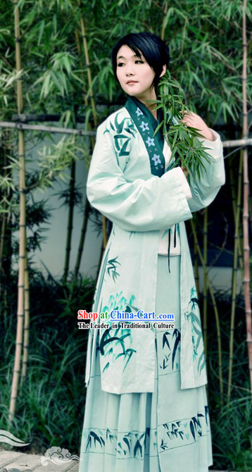 Hand Painted Ming Dynasty Hanfu Clothing for Women