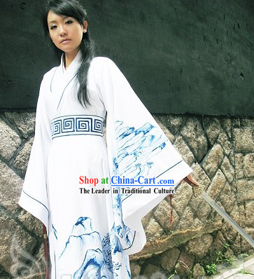 Ancient Chinese Swordsman Hanfu Clothing Complete Set for Men