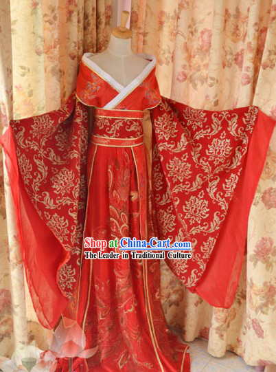 Ancient Chinese Phoenix Wedding Dress for Bride