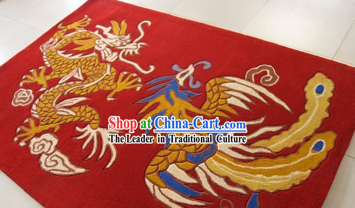 Chinese Dragon and Phoenix Rug