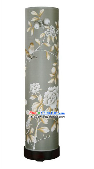 39 Inches High Chinese Hand Painted Floor Palace Lantern