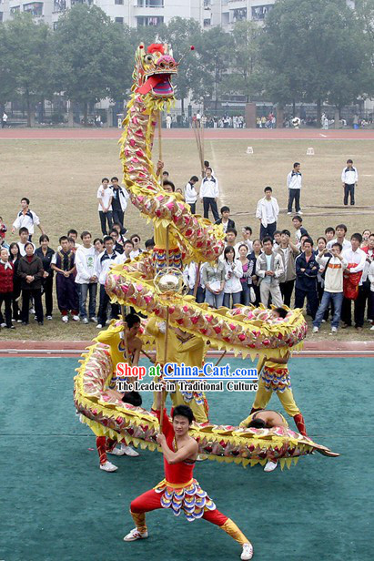 Traditional Lightweight Net Dragon Dance Costumes Complete Set