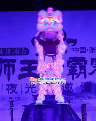 Big Festival Parade Illuminated Glow in Dark Lion Dance Costumes Complete Set