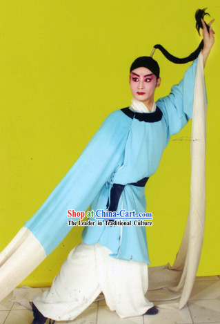 Chinese Opera Long Water Sleeve Dance Costume for Men