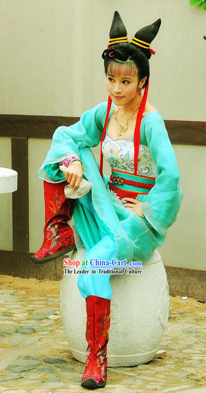 Tang Dynasty Women Hero Costumes Full Set